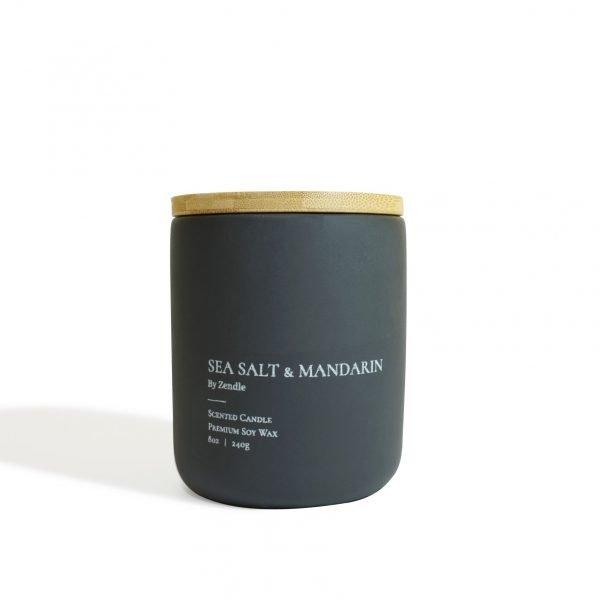 Sea Salt & Mandarin (Lid) scented candle